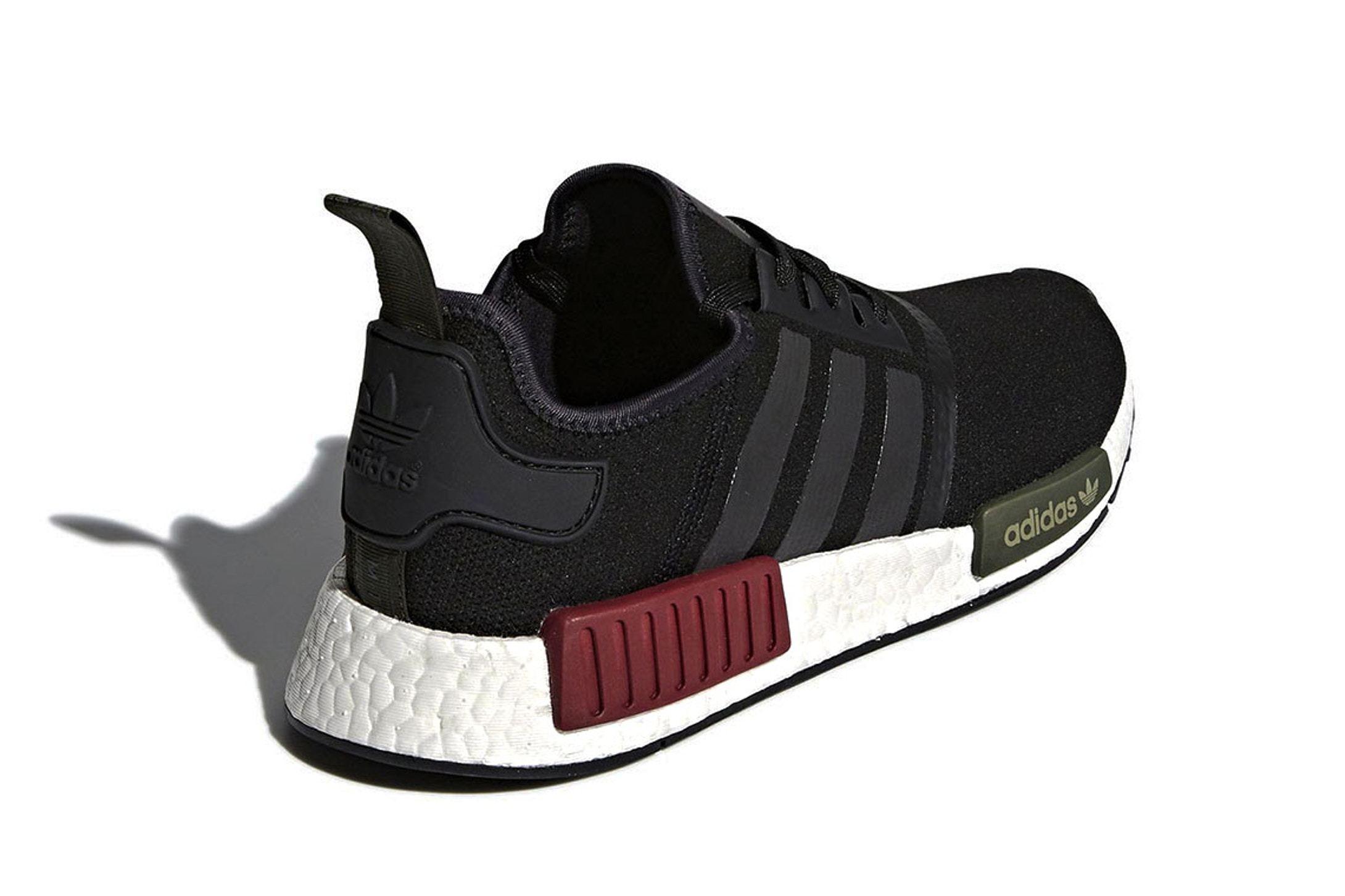 Adidas Nmd R1 Burgundy Olive Sneaker Freaker2