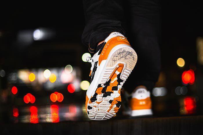 Afew X Beams X Asicstiger Orange Koi On Feet 08
