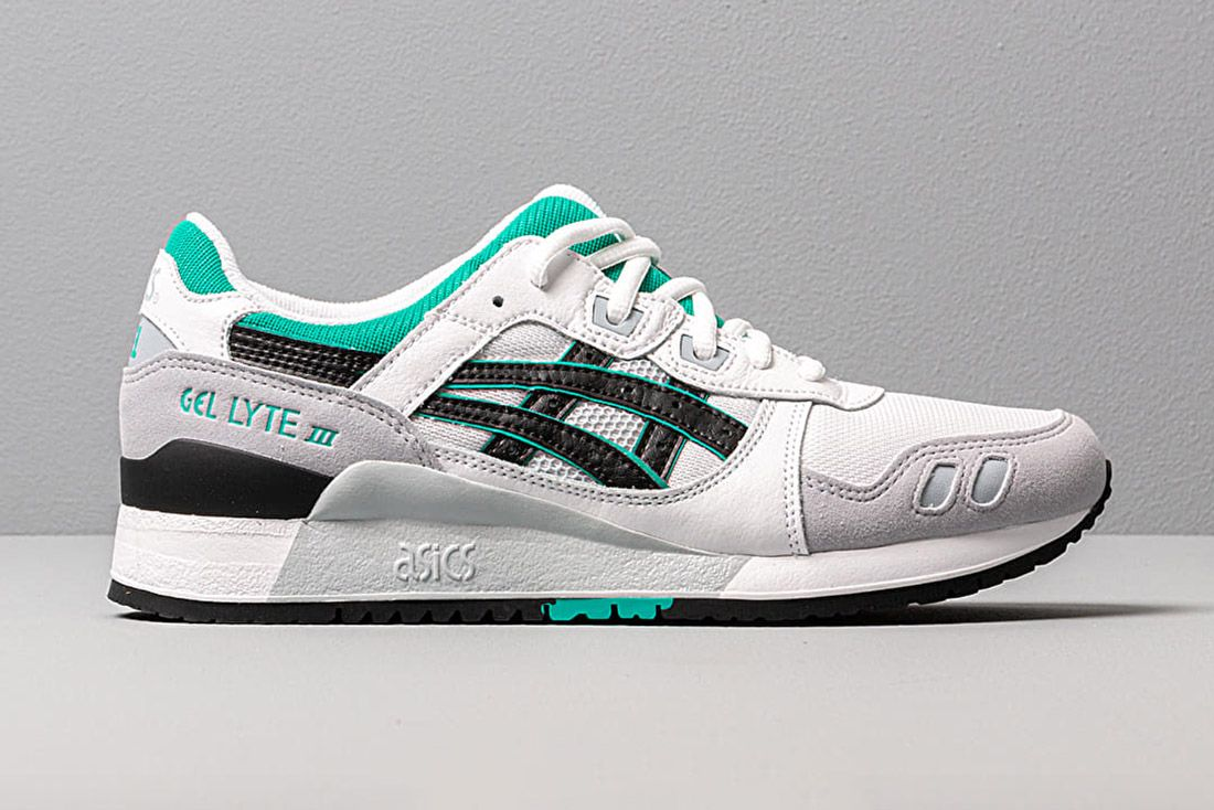 Asics Gel Lyte Iii White Grey Black Green 1191A223 100 Lateral