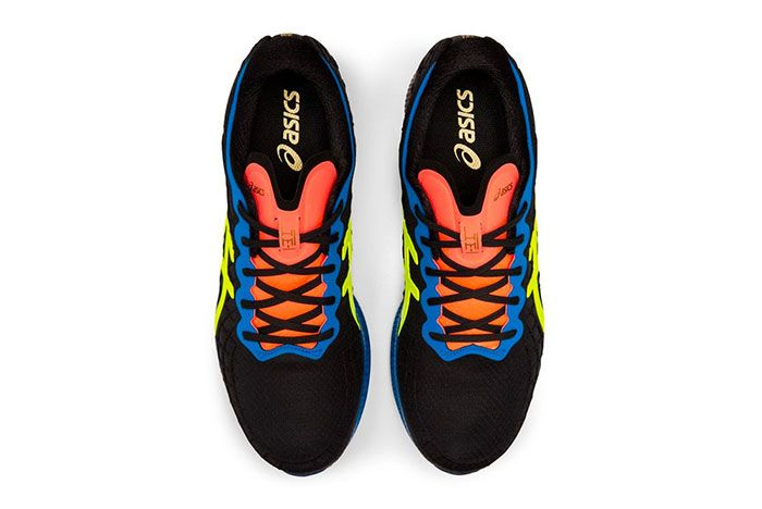Asics Gel Quantum Infinity Red Blue Black Safety Yellow Top
