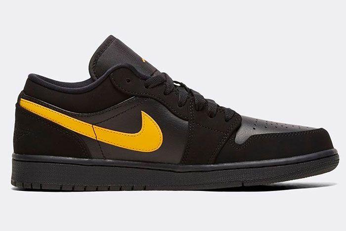 Nike Air Jordan 1 Low Gold Swoosh Right