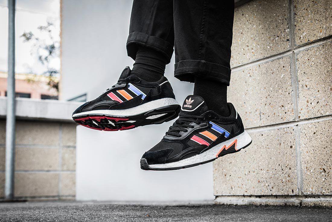 Black Multicolour Adidas Tresc Run Left Side Shot 2