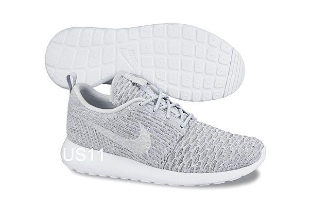 Nike Flyknit Rosherun Gry Wht