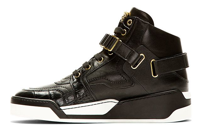 Versace Black Leather High Top Bcooc 1