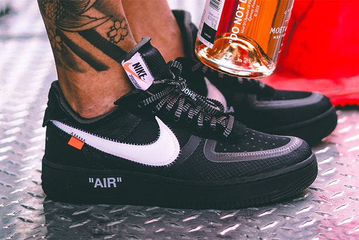 Off White Air Force 1 Black Cone 2
