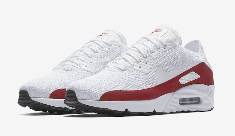 Nike Air Max 90 Ultra 2 0 Flyknit White Red 875943 102 4