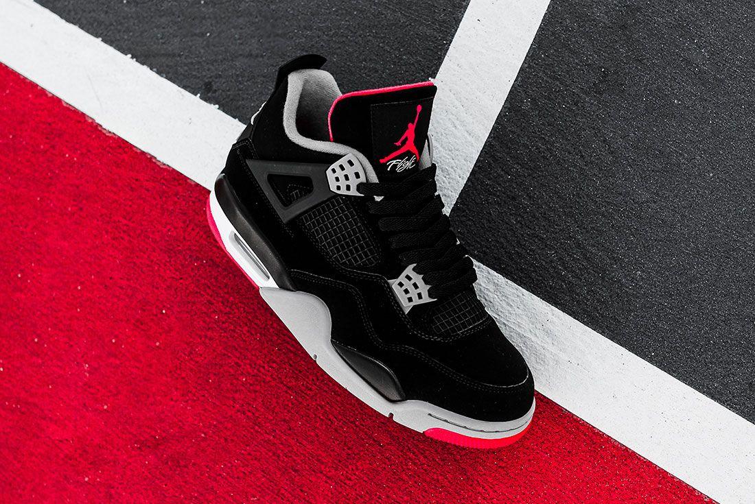 Air Jordan 4 Bred Jd Sports Family Sizes4 Side