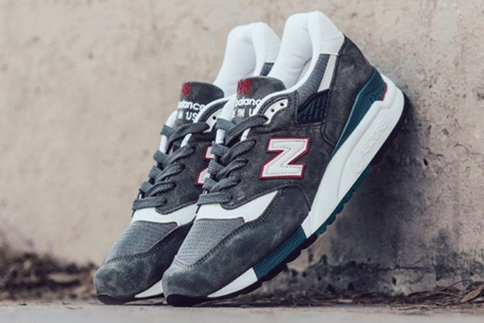 New Balance 998 Cra Made In Usa Grey Red Teal A