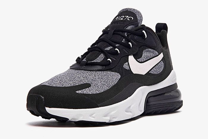 Nike Air Max 270 React White Grey Black Ao4971 001 Front Angle Shot
