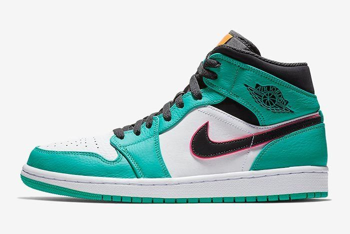 Air Jordan 1 Mid South Beach Turbo Green 852542 306 Release Date