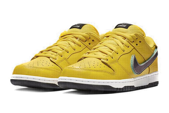 Diamond Supply Co Nike Sb Dunk Low Yellow 1 Alt