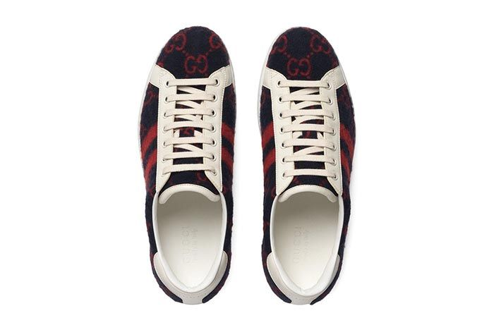 Gucci Gg Wool Sneaker Top Shot 2