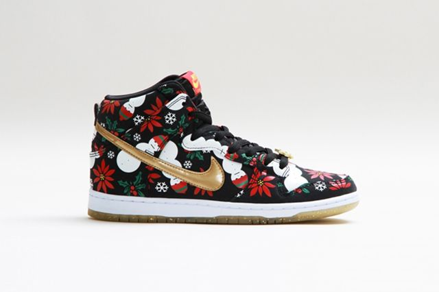 Concepts Nike Sb Dunk High Ugly Christmas Sweater 5