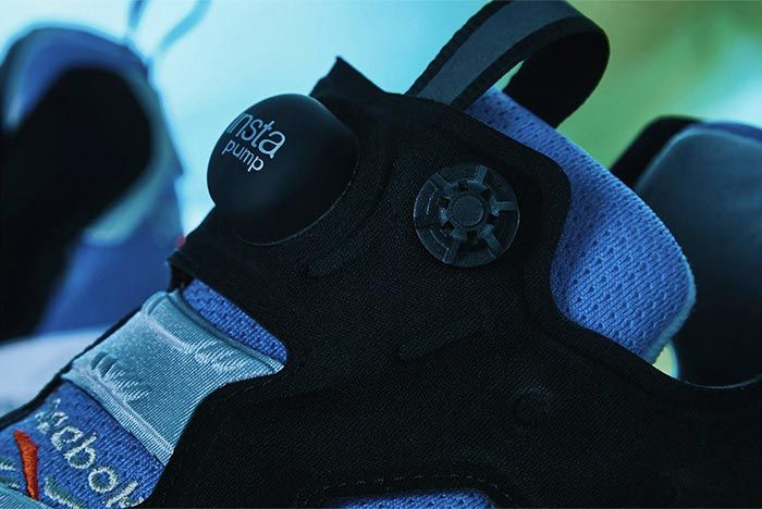 Reebok Instapump Fury Blue Grey Close Up Shot 1