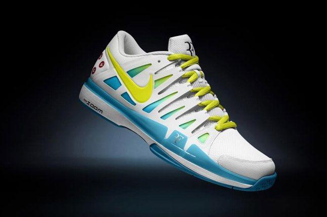Nikeid Roger Federer Vote Zoom Vapor 9 Yellow Blue 1
