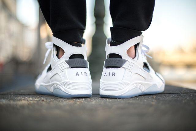 Nike Air Flight Huarache White Cool Grey 2