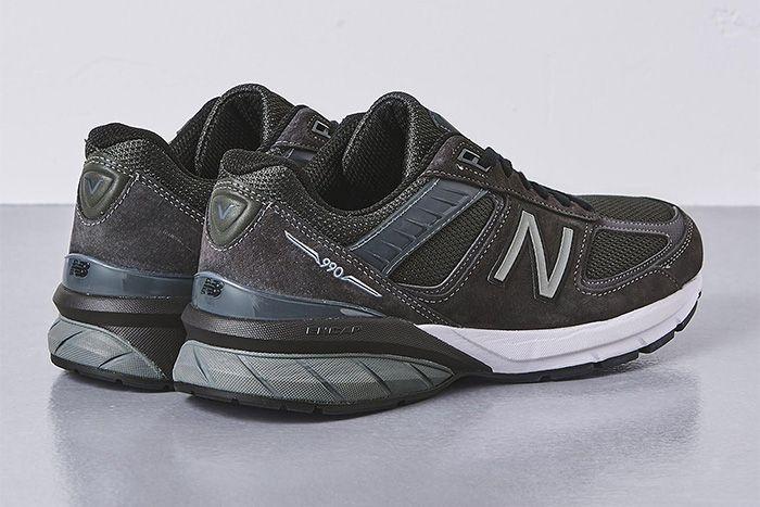 United Arrows New Balance 990V5 Grey Release Date Heel