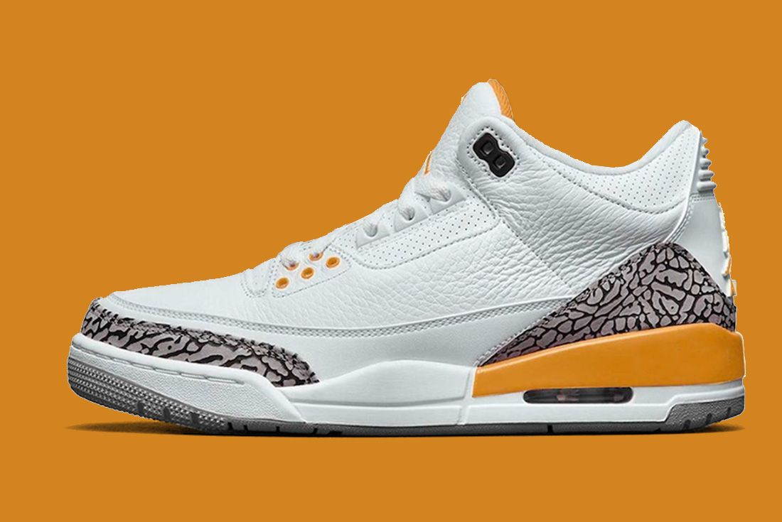 Air Jordan 3 Laser Orange CK9246-108 Mock Up