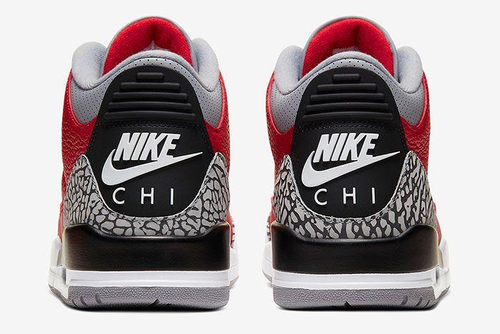 Air Jordan 3 Chi Cu2277 600 Heel Shot