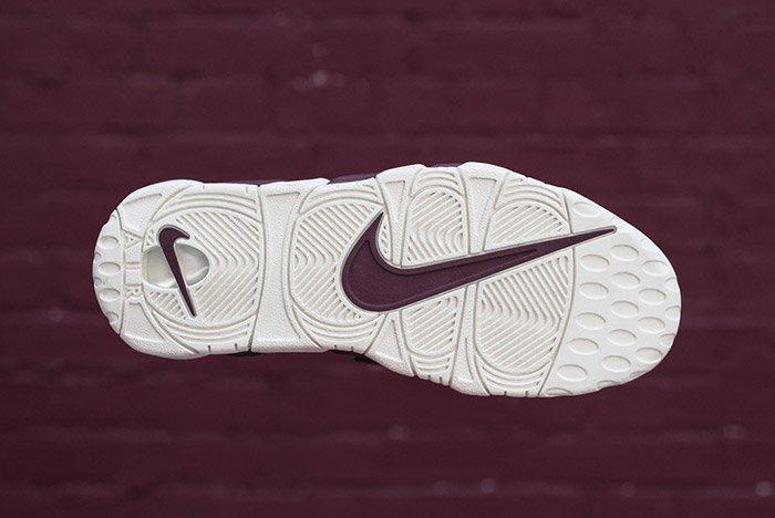 Nike Air More Uptempo Night Maroon Burgundy 7