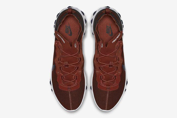 Nike React Element 55 Brown Navy 2