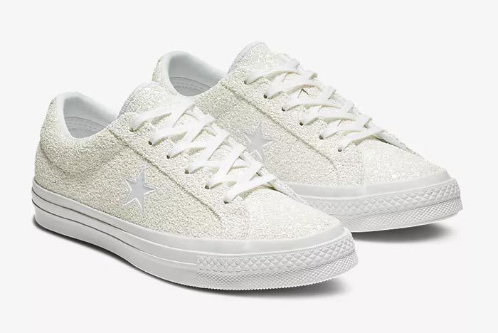 Converse One Star White Glitter 2
