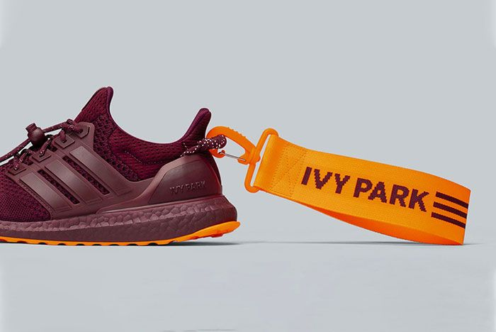 Beyonce Ivy Park Adidas Ultraboost Burgundy Lateral Heel Side Shot