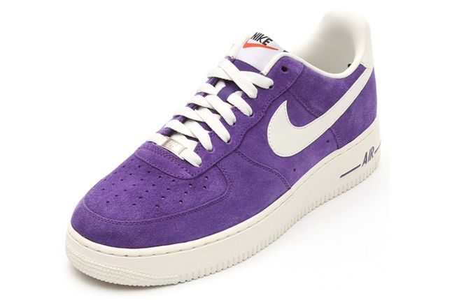 Nike Air Force 1 Low Suede Purple Angle 1