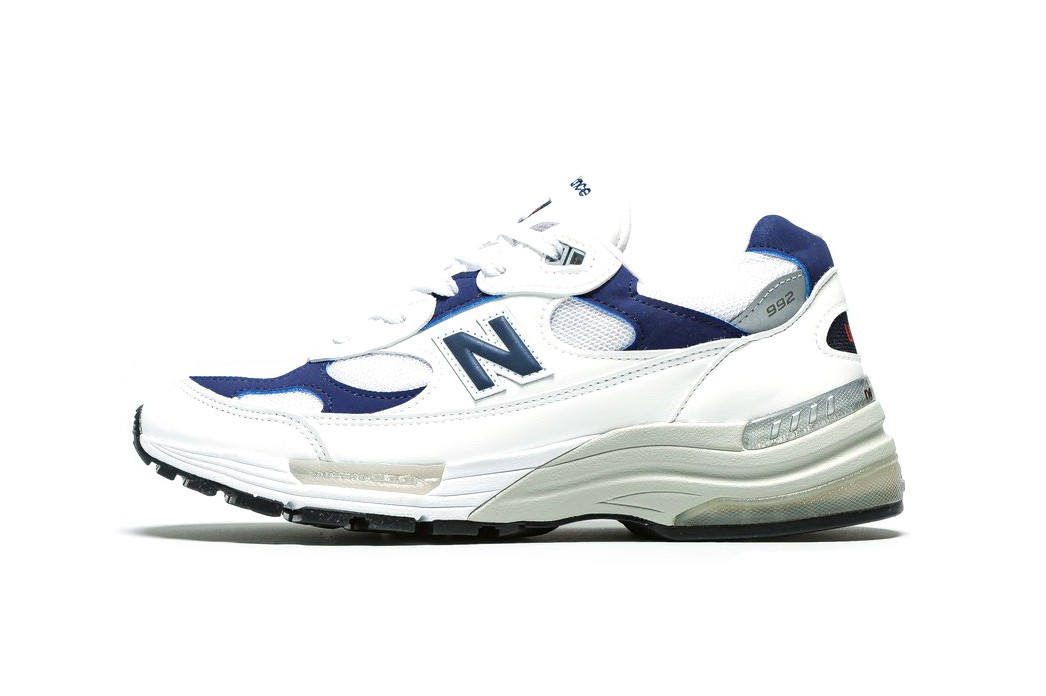 New Balance 992 White Navy M992EC