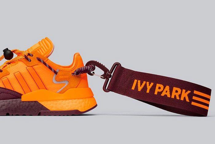 Beyonce Ivy Park Adidas Nite Jogger Fx3158 Orange Lateral Heel Shot