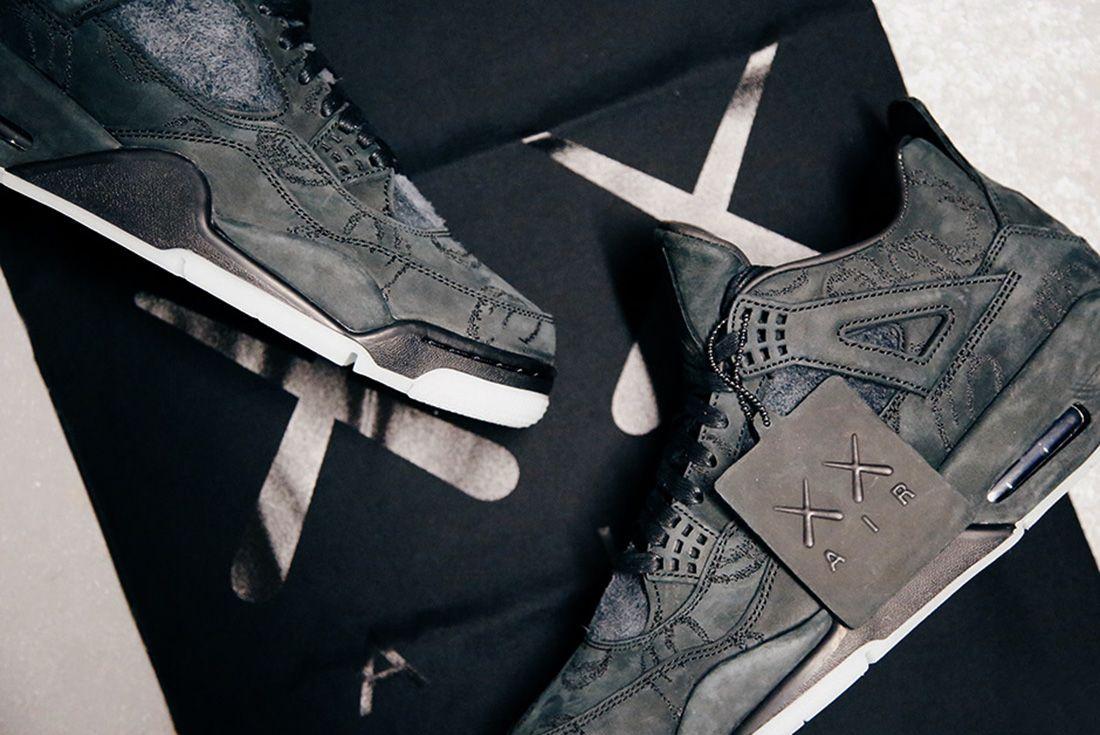 Air Jordan 4 Kaws Black Detail Sneaker Freaker 7
