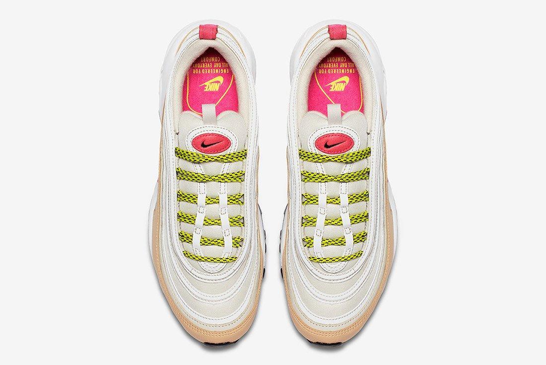 Nike Air Max 97 White Tan Neon 4