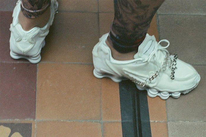 Comme Des Garcons Nike Shox Tl White Black Release Date Pair