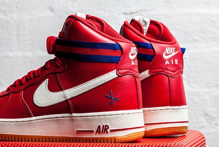 Nike Af1 High 07 Red 2