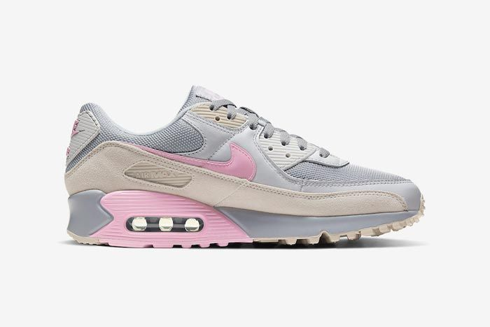 Nike Air Max 90 Grey Grey Pink Medial