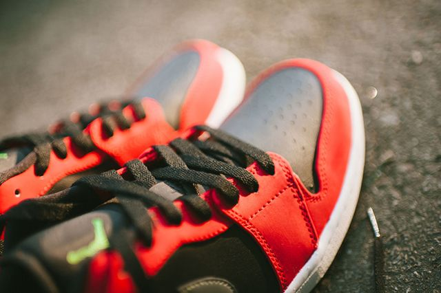 Air Jordan 1 Low Blackgym Redgreen Pulse4