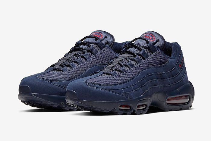 Nike Air Max 95 Navy Red Cq4024 400 Front Angle