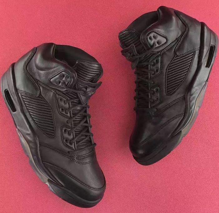 Air Jordan 5 Premium Triple Black5