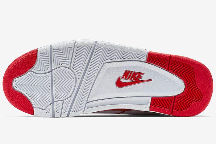 Nike Air Flight 89 White University Red 819665 100 Sole