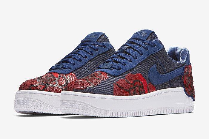 Nike Air Force 1 Denim Floral Seqine 13