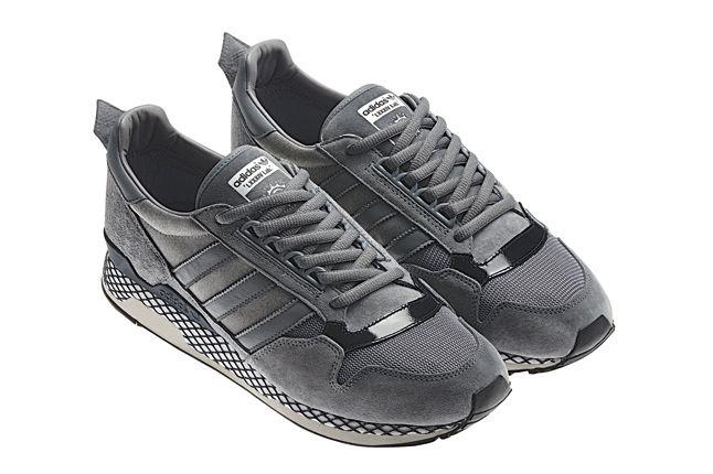Adidas Originals Zx Suede Grey Hero Unlaced 1