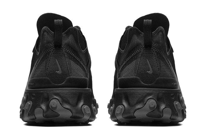 Nike React Element 55 Triple Black 3