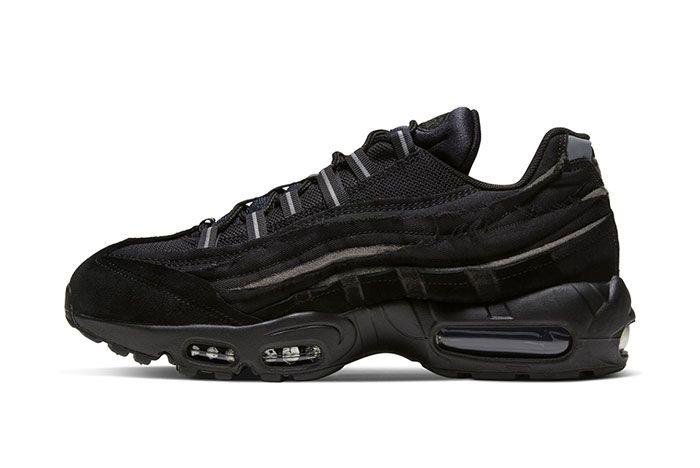 Comme Des Garcon Nike Air Max 95 Black Left