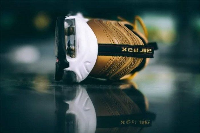 Nike Air Max 97 Metallic Gold On Feet 4