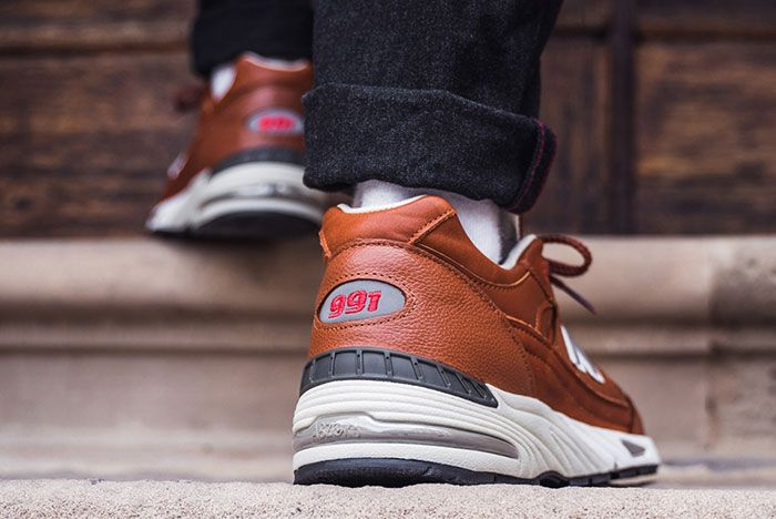 New Balance 991 Elite Gent M991Gnb Brown On Foot Heel