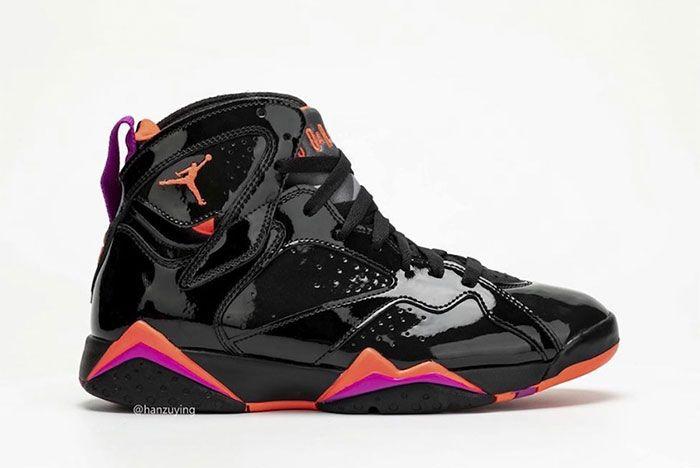Air Jordan 7 Womens Black Orange Pink Right 3