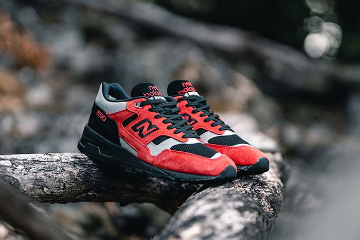 New Balance 1530 Lava Pack Red Angled