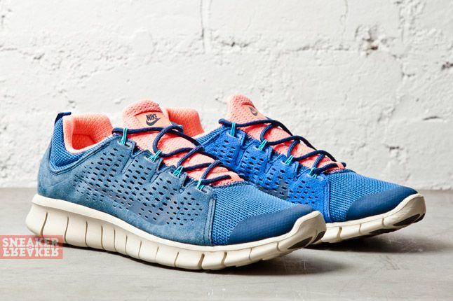 Nike Free Powerlines Ii Ltr Brave Blue Atomic Pink 2