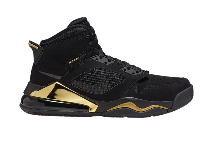 Jordan Mars 270 Dmp Black Metallic Gold Cd7070 007 Lateral