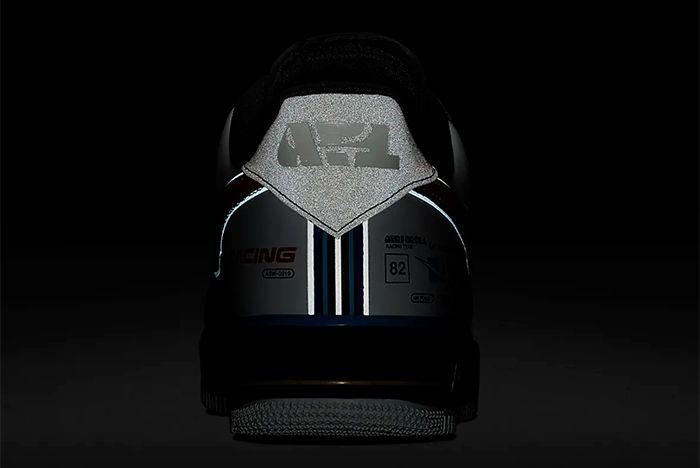 Nike Air Force 1 Racing Ah8462 004 Single Heel Shot